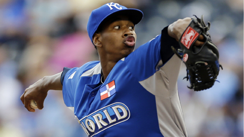 Yordano Ventura held opponents to a .227 average across three levels last year.
