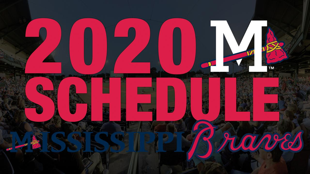 Braves 2020 Schedule Mississippi Braves announce 2020 game schedule | Mississippi