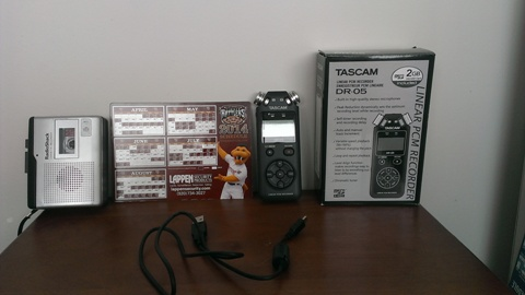 The old equipment and the new equipment for 2014 Timber Rattlers radio broadcasts.
