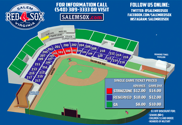 red sox seat chart: Seating chart salem red sox haley toyota field