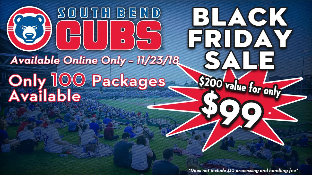 South Bend Cubs Offer Black Friday Ticket Package