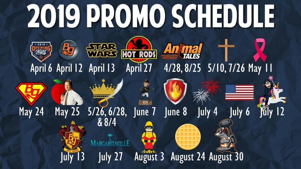 2019 Promo Schedule