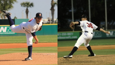 Manatees pitchers David Goforth and Mark Williams combine to allow just five hits and recorded eight strikeouts, en route to Brevard County's second shutout of the year on Wednesday night in a 3-0 win over the Lakeland Flying Tigers at Joker Marchant Stadium.