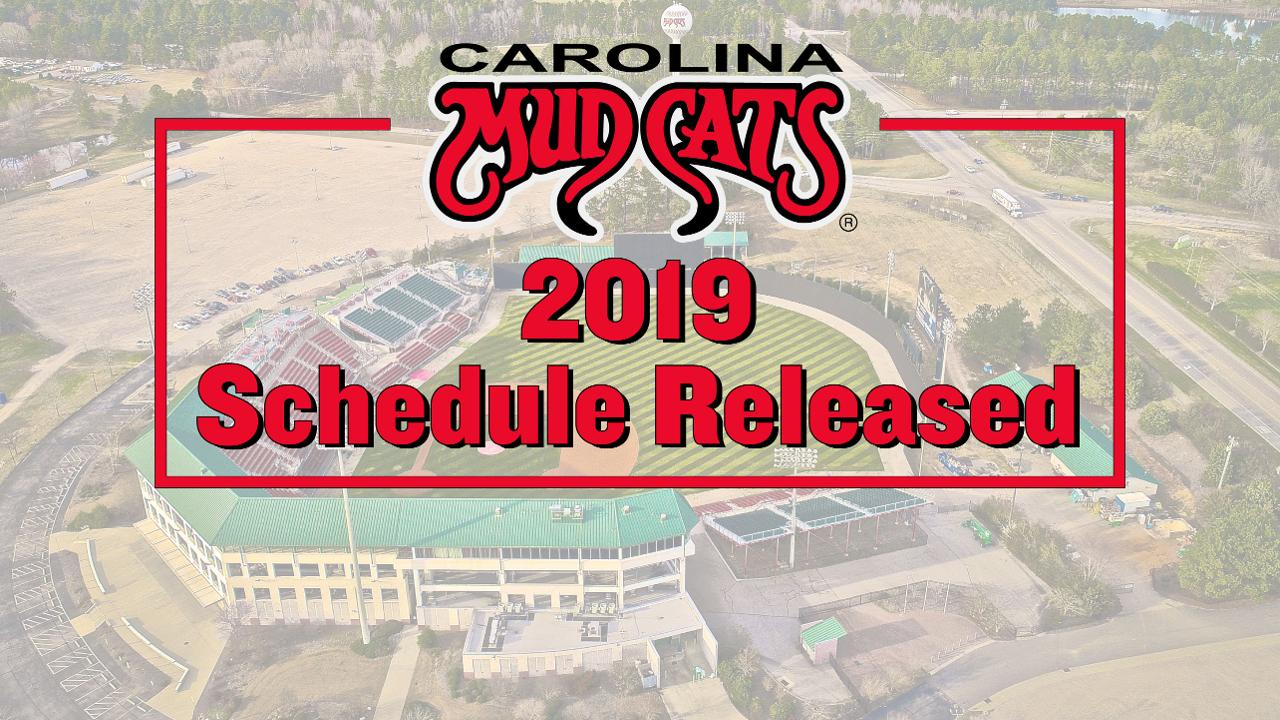 Mudcats Announce 2019 Season Schedule