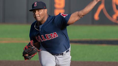 Darwinzon Hernandez leads the Carolina League with 124 strikeouts over 101 innings.
