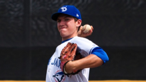 Danny Barnes has 33 saves in 35 opportunities with the D-Jays in 2012