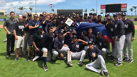 The GCL Yankees East claimed a spot in the postseason by winning the Northeast Division with a 33-27 record.