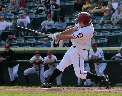 Alex Dickerson was voted the Eastern League's Rookie of the Year by the league managers and its media members