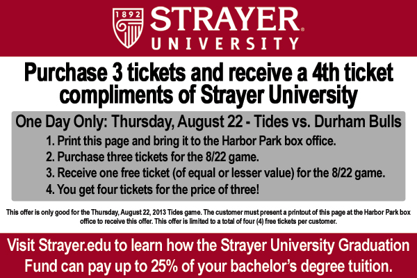 Strayer University Ticket Offer
