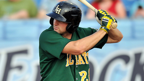 Kyle Kubitza leads the Carolina League with 60 walks for Lynchburg.