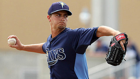 Jake Odorizzi is the highest ranked of a stacked rotation at Triple-A Durham.