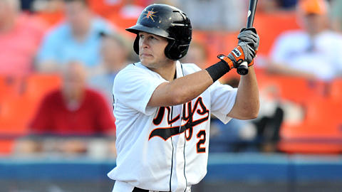 Frederick's John Ruettiger ranks third in the Carolina League with 27 steals.