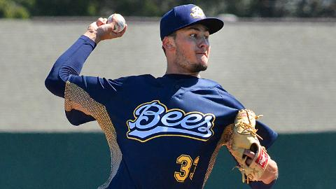 Joe Gatto was 5-7 with a 3.46 ERA in 21 starts with Class A Burlington before a promotion to Inland Empire.