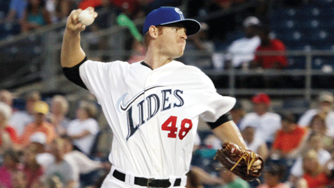 Tim Alderson re-signed with Baltimore after posting a 4.32 ERA in 37 games last season.
