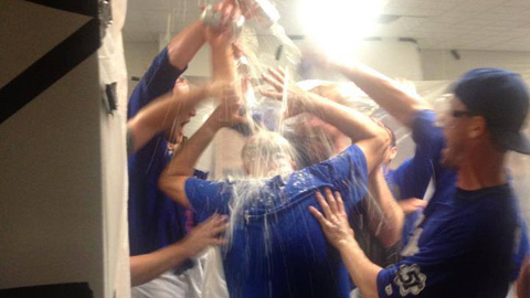 The 51s celebrate after clinching their first division title since 2002.