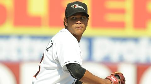 Eduardo Rodriguez (pictured) pitched for the Shorebirds in 2012