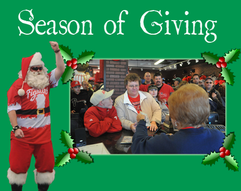 The 2013 Season of Giving will directly aid local non-profit and charitable organizations throughout the holiday season.