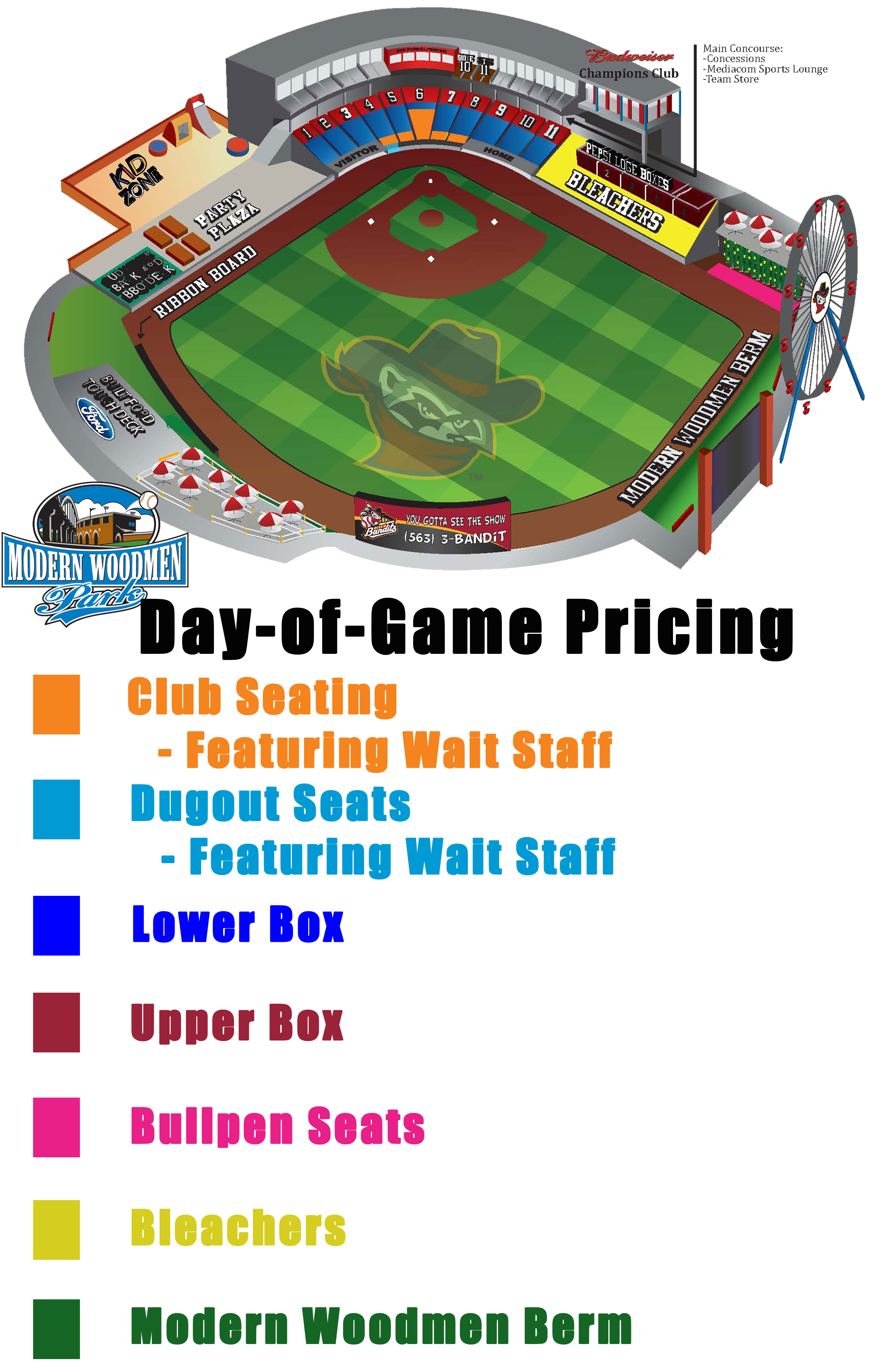 Seating Layout Quad Cities River Bandits Content
