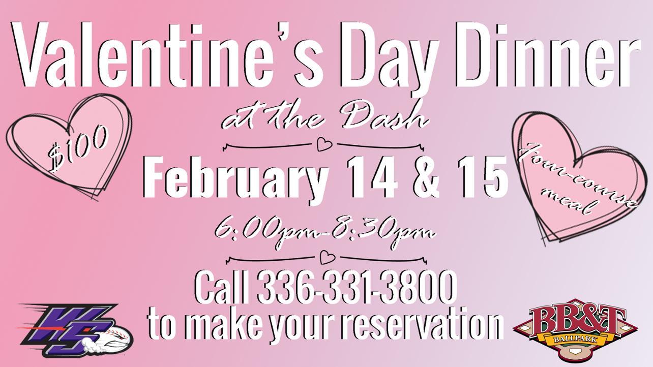 Valentine's Day Dinner returns to BB&T Ballpark