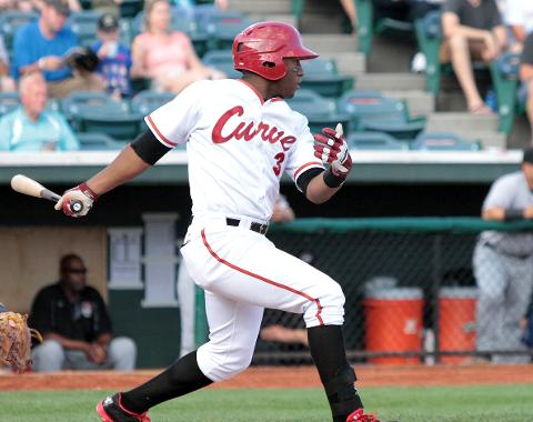 Mel Rojas Jr. collected three hits in the season finale against Akron on Monday.