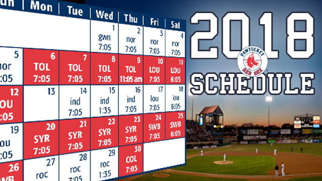 Opening Weekend starts Friday evening, April 6, and continues Saturday and Sunday afternoons; Red Sox' Triple-A Affiliate will host Yankees' Triple-A ...