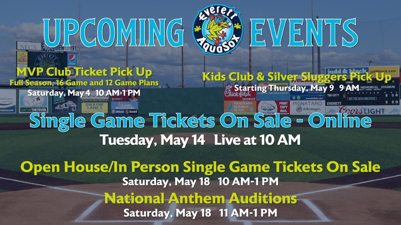 Everett AquaSox Upcoming Events