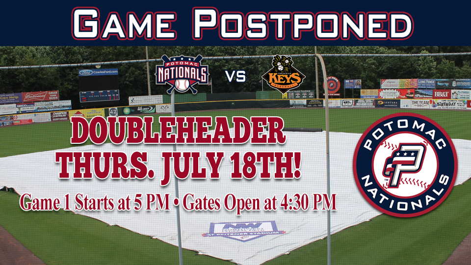 P Nats And Keys Washed Out In Woodbridge Potomac Nationals News