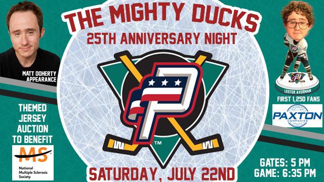 newest b57b7 c331c Mighty Ducks Star Matt Doherty Set to Appear At Pfitzner ...