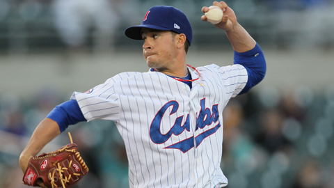 Chris Rusin was the Cubs' top minor league pitcher in June.