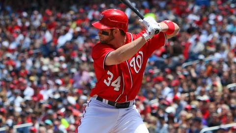 Bryce Harper had 43 hits in 44 games for Washington before the injury.