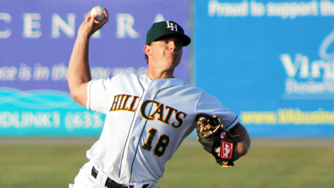 Jarrett Miller is 11th in the Carolina League with a 3.42 ERA.
