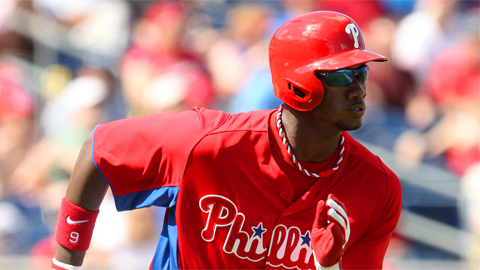 Domonic Brown leads all Philadelphia hitters with 24 homers.