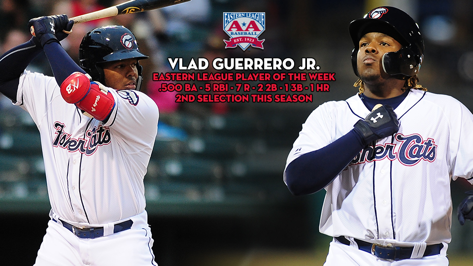 Vlad Guerrero Jr. Wins Second Player of the Week Award | Fisher Cats