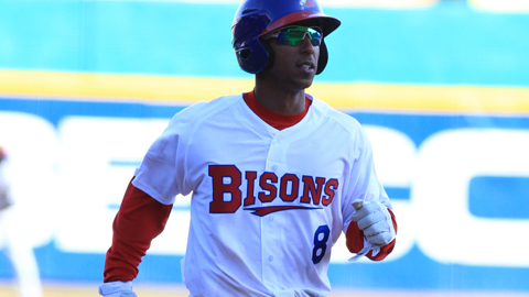 Anthony Gose got the Bisons only hit of the game against Columbus Friday night.