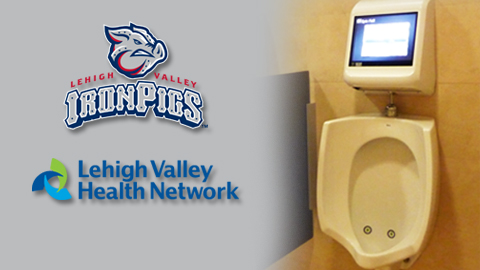 "Coca-Cola Park is the first sports venue in the world to feature the brand new ""Urinal Gaming System"""