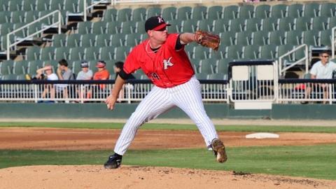 Brad Goldberg went 3-0 with a 1.42 ERA in 12 games with Kannapolis.