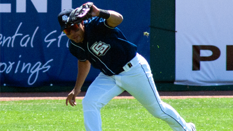 Infielder Hernan Iribarren had seven hits in 14 at-bats against the New Orleans Zephyrs in 2012.