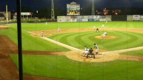 The Timber Rattlers put the tying runs in scoring position with one out in the ninth inning on Friday night at Clinton.