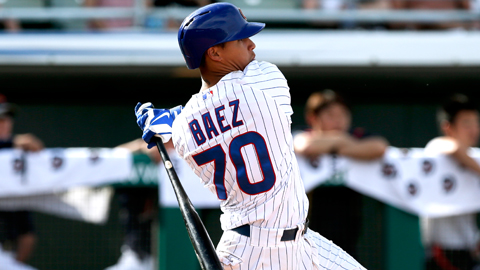 Javier Baez has collected five extra-base hits thus far in the Cactus League.