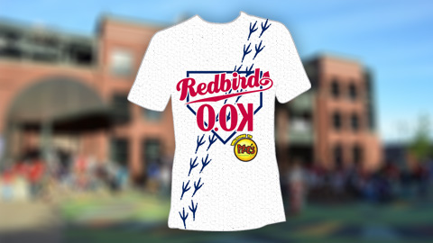 "Redbirds fans will receive this shirt after completing the ""brief"" race at AutoZone Park."