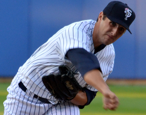 Staten Island Yankees pitcher Stefan Lopez picked up his second save of the season, striking out six Spinners.