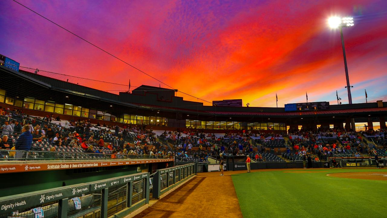 ... a spring training exhibition game at Scottsdale Stadium on March 7  2019. Oakland won the contest 5-1. Photo  Ralph Thompson River Cats (Ralph  Thompson) 081cf0b1ed60