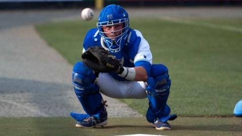 Chad Johnson has committed one error behind the plate in 34 starts for the Royals.