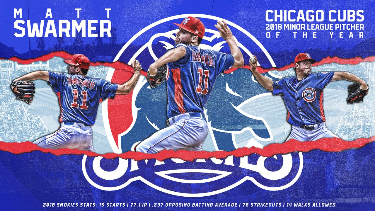 cubs name matt swarmer minor league pitcher of the year tennessee
