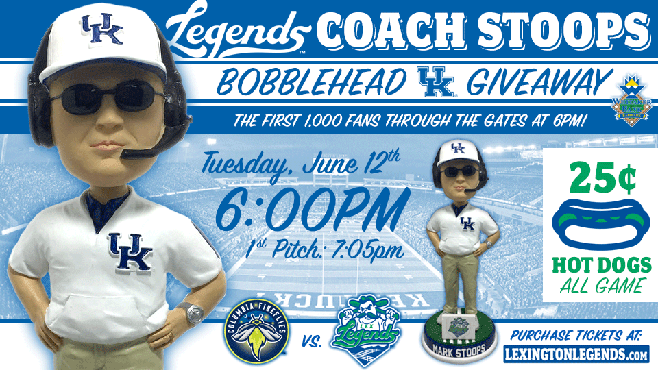Its A Kentucky Filled Homestand With Coach Mark Stoops Bobblehead