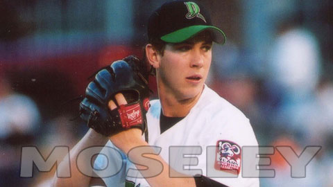 Dustin Moseley with the Dragons in 2001.