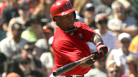 Erick Aybar went 9-for-28 (.321) before going down with a heel injury in early April.