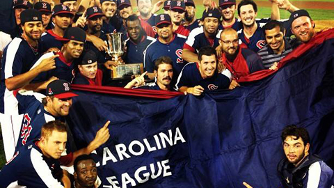 Salem celebrates its first Carolina League championship as a Red Sox affiliate.