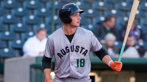 Jacob Gonzalez has five home runs in 62 games in the South Atlantic League this season.