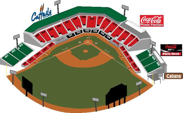 Seating Chart | Carolina Mudcats Five County Stadium